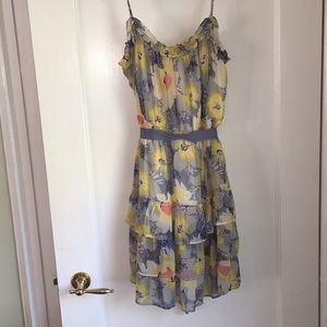 American Eagle blue and yellow floral dress